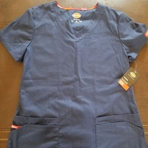 Dickies Navy Junior Med Scrub top